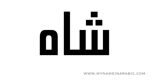 Shah in Arabic Calligraphy